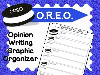 writing with this oreo graphic organizer and anchor chart free graphic ...