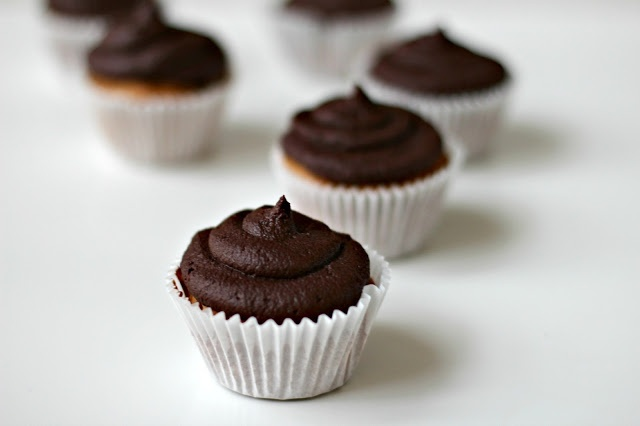 Milk and Honey: Peanut Butter Cupcakes with Dark Chocolate Frosting