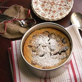 Cherry Almond Clafoutis-a baked custard perfect for summer!