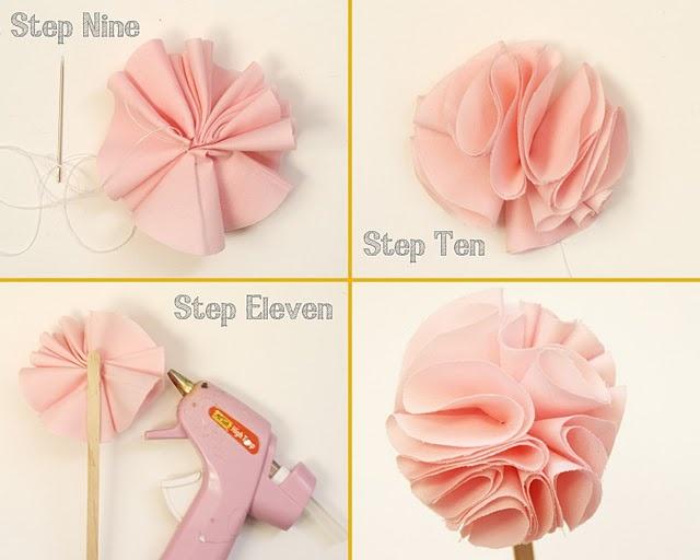 DIY ткани цветок