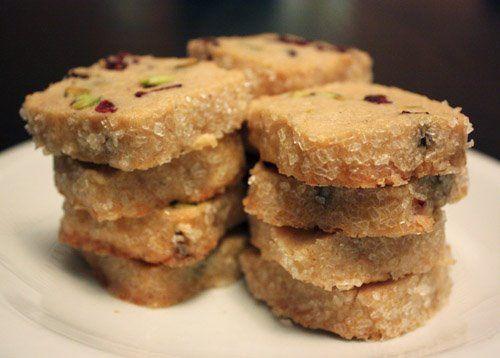 Pistachio Cranberry Icebox Cookies | oishi | Pinterest