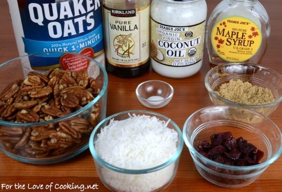 Pecan, Coconut, and Cherry Granola | Fave Recipes! | Pinterest