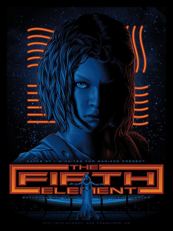 The fifth element movie poster 27x40
