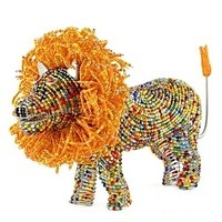 Beaded Lion Sculptures and other great products to help a wonderful cause: Big Cat Rescue in Tampa FL. www.bigcatrescue.org