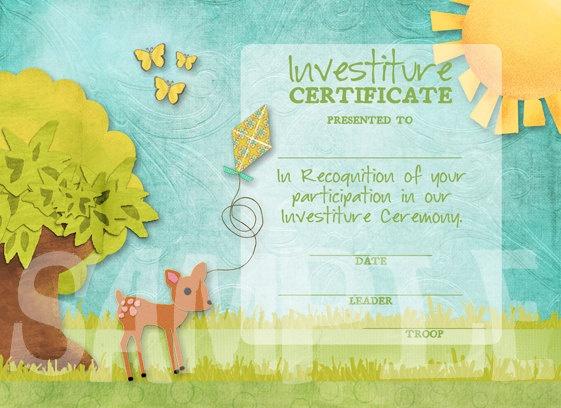 Girl Scout Investiture Certificate