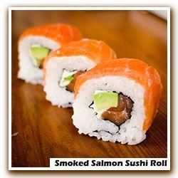 Smoked Salmon Sushi Roll Recipe — Dishmaps