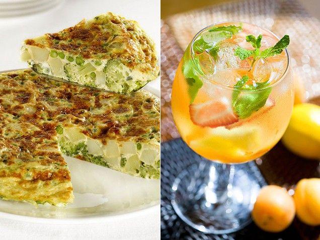 Spanish Vegetable Tortilla & Sangria brunch recipes