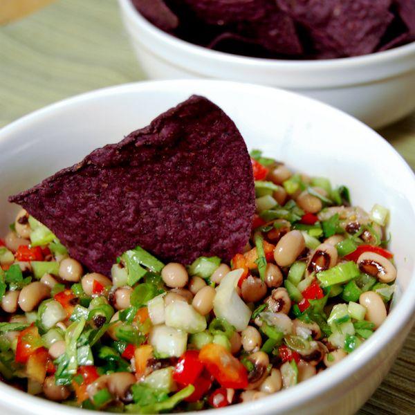 Black Eyed Pea Salsa. A nice alternative to the tomato variety.