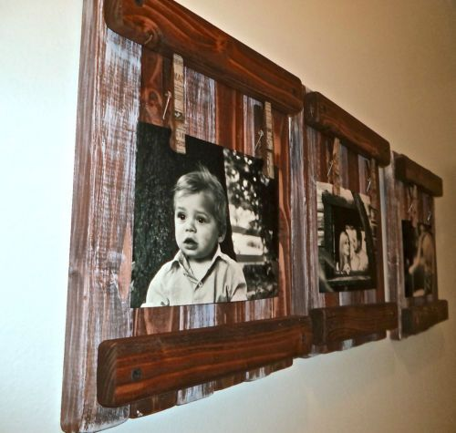 Full Trend Rustic Picture Frames : Rustic picture frame made from barn wood/decorative antique style clo ...