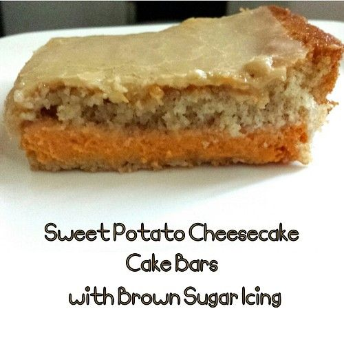 Sweet Potato Cheesecake Cake Bars from Foodie Fluency!