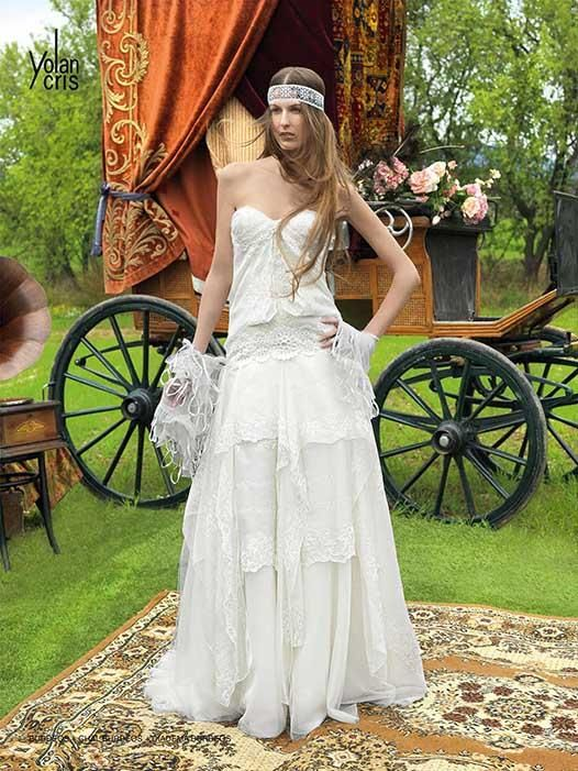 Hippie Chic Wedding Dresses : Hippie chic wedding dress bride she looks so