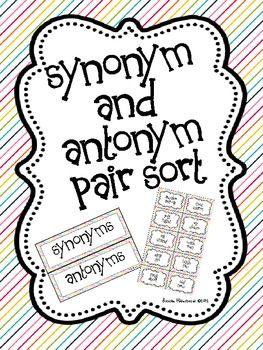 Synonym and Antonym Pair Sort (Free!)