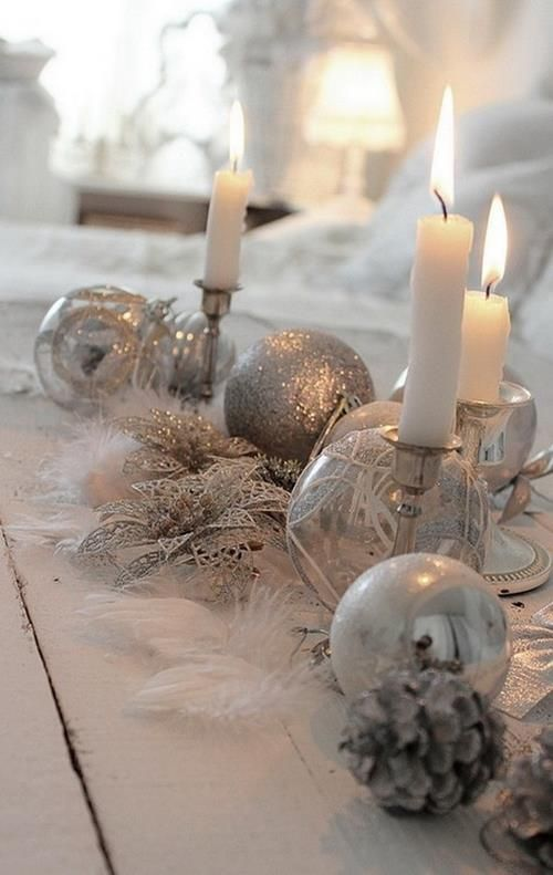 Inspiring Winter and Christmas Theme Wedding Centerpieces centrotavola natalizio