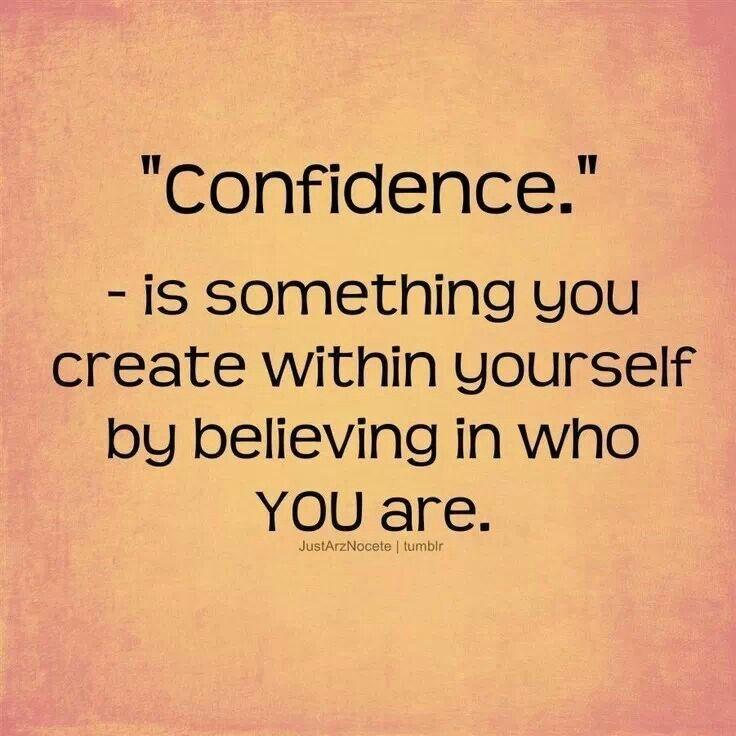 Self-belief breeds confidence
