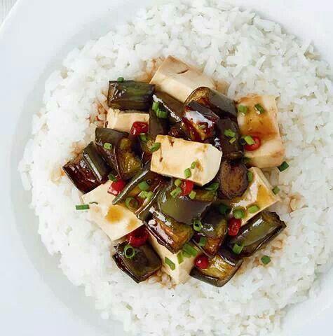 Sweet n spicy eggplant w/ tofu