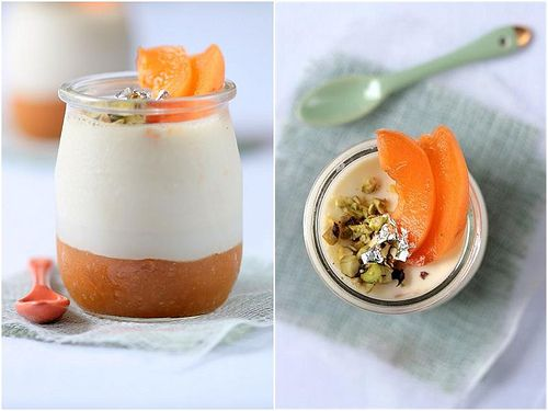 Roasted Apricot and Lavender Panna Cottas- For Mother's Day!