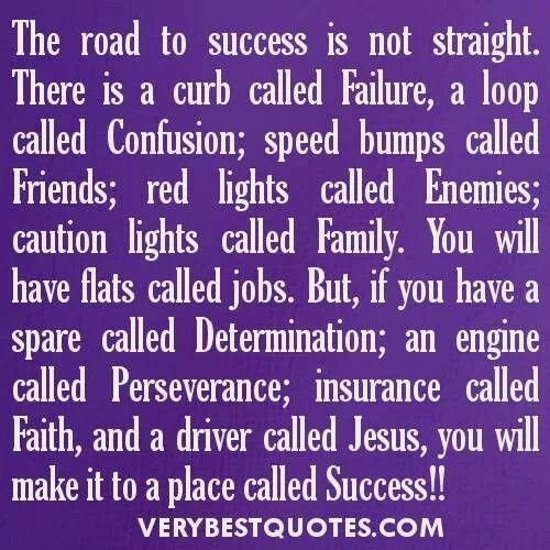 The road to success... | Quotes to Live By | Pinterest