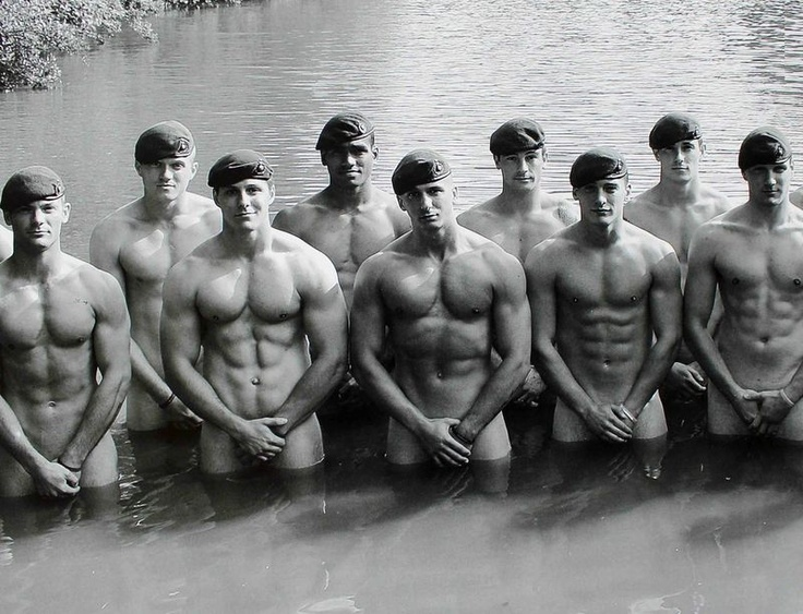 Naked Soldiers In Water