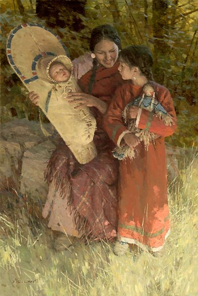 Native American Mother And Child Art Native American Mother...