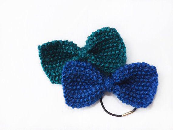 PDF Knitting Pattern Hair Bow, Mini Knit Bow Tie Women ...