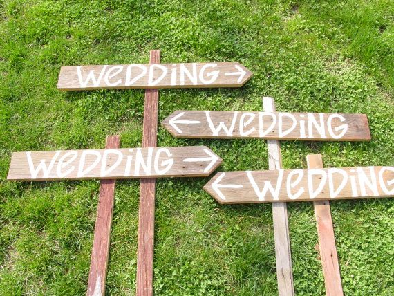 Wedding Signs, could be good for pointing to Port-A-Potties!!