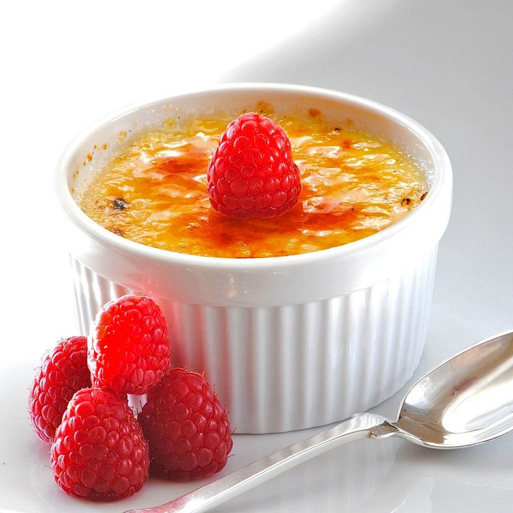 Creme Brulee...Guilt-free version I bet you could still make a brulee ...
