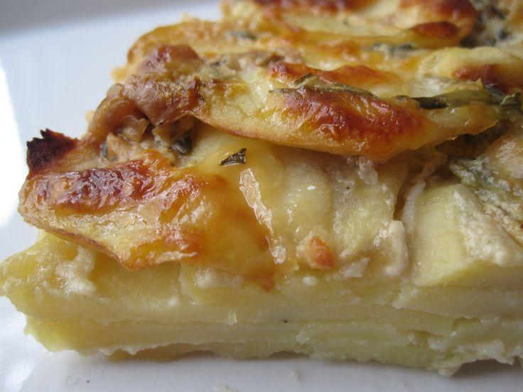 Herbed Potato Gratin With Roasted Garlic and Manchego | Recipe