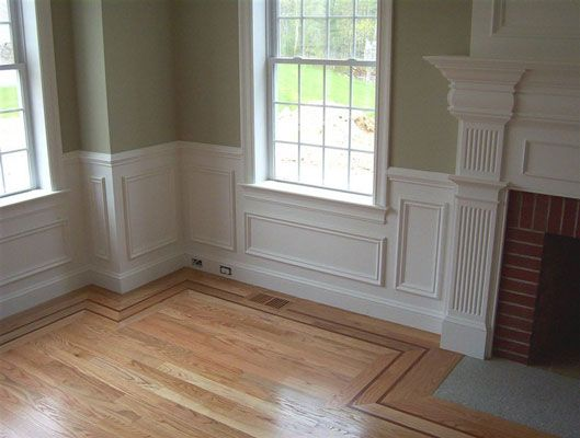 Applied Panel Wainscoting | Around The House | Pinterest