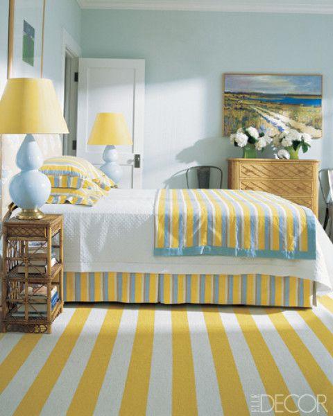 Yellow and Blue Beach Bedroom   Bedroom Design Inspiration Create yo