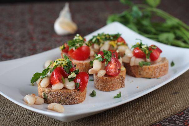 White Bean Bruschetta   Recipes   Pinterest