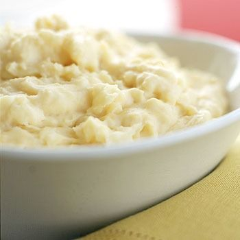 Make-Ahead Cheesy Mashed Potatoes - Parenting.com/sour cream, cheddar ...