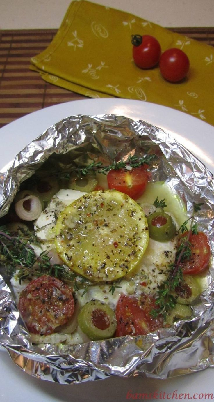 Snapper Packets are delightfully flavored with lemon, olives, tomatoes ...