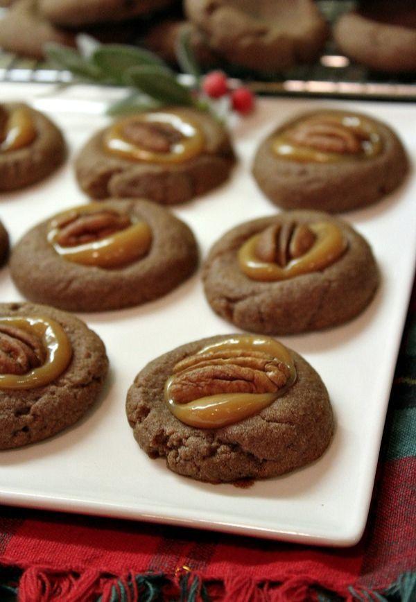 Chocolate Turtle Cookies | Cookies, Candies and Brownies, Etc. | Pint ...