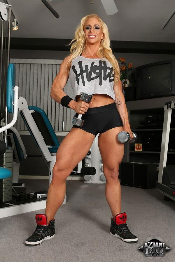 New Sexy Update On AzianiIron.com #fbb #bodybuilding #fitness #blonde ...