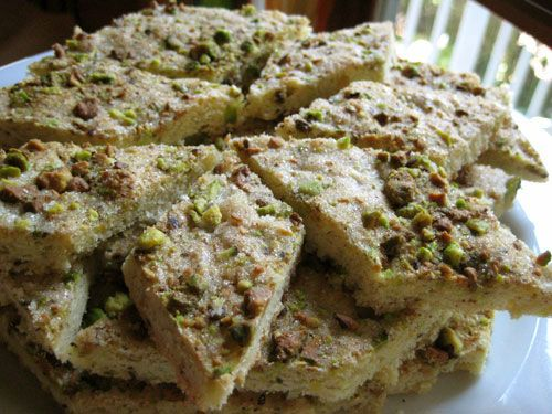 sicilian gardens | Sunday Slow Bakers: Sicilian Pistachio Cookie Bars