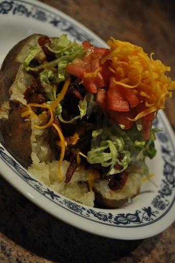 Super Stuffed Taco Chili Potato... | Love Spuds ~ Potato Dishes | Pin ...