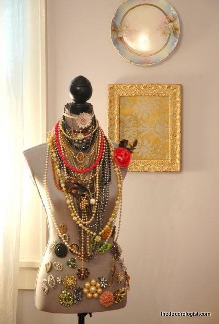 Dress Form Jewelry Stash