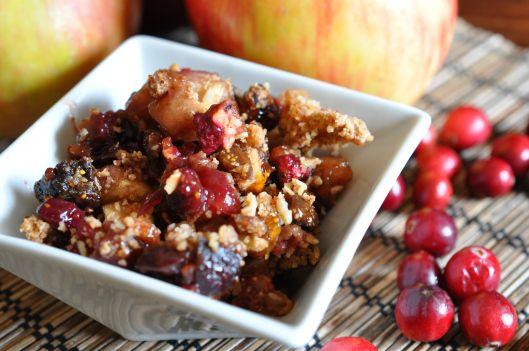 Maple Cranberry Apple Crisp