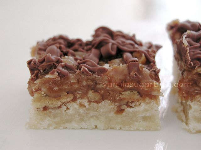 Caramel Coconut Pecan Shortbread Bars | Sweets | Pinterest