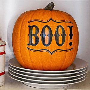 No-Carve Pumpkin: Boo! Tattoo