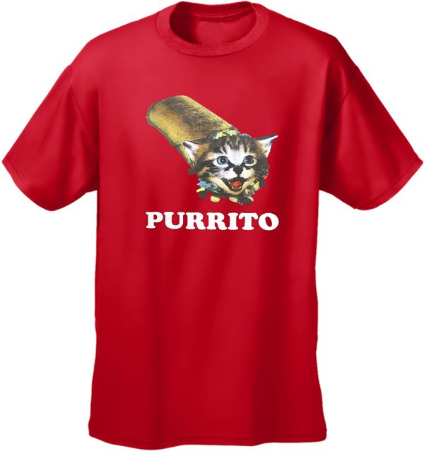 Purrito Men's T-Shirt | Mens T-Shirts and Clothing