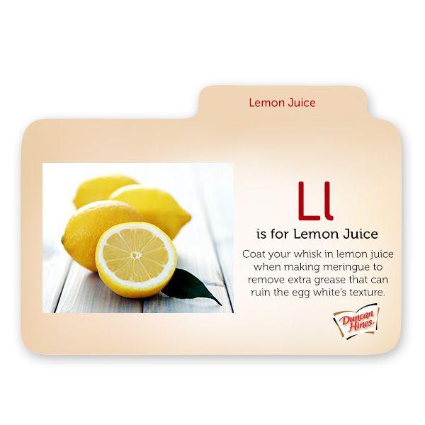is for Lemon JuiceL Is For Lemon
