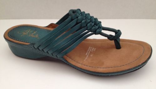 Life Stride Shoes 7 Womens Green Sandal Low Heel Size 7M Strappy Taco
