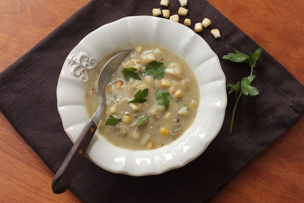 Vegan Corn Chowder - This recipe looks spectacular! I can't wait to ...
