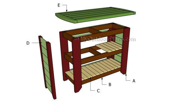 Outdoor Bar Outdoor Furniture Plans Pinterest