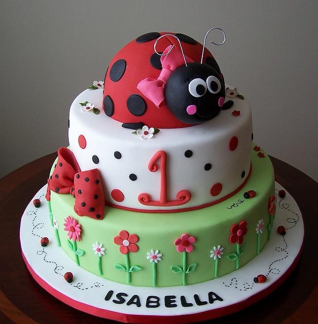 Cake idea Cakes - Ladybug Pinterest