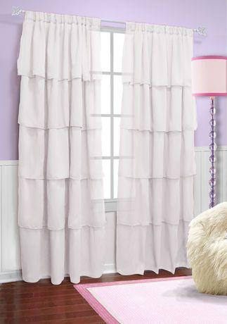 ruffle curtains from walmart window treatments pinterest