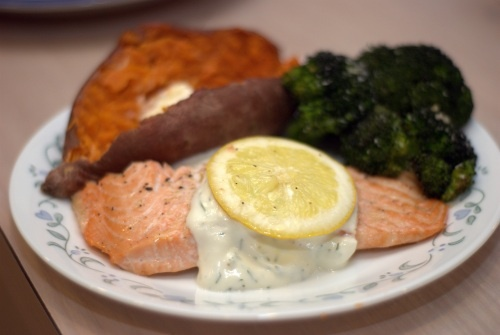 Roasted Salmon with Dill Lemon Sauce | Recipes Worth Making | Pintere ...