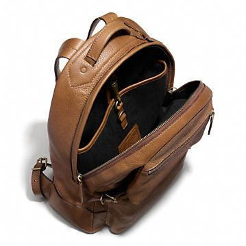 Coach :: BLEECKER BACKPACK IN PEBBLED LEATHER