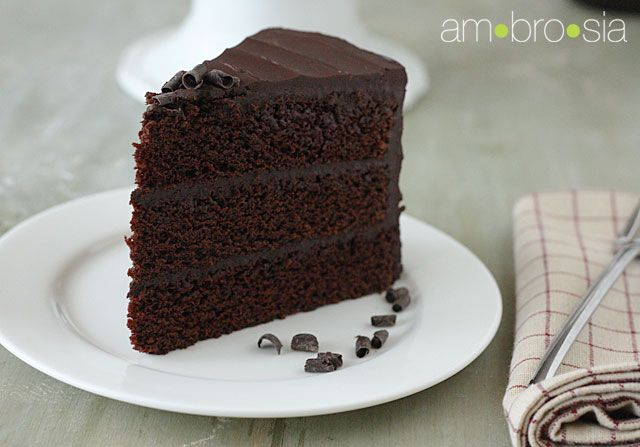 Chocolate stout cake with ganache icing. It looks so dark, rich and ...